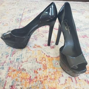 Unworn Jessica Simpson 9.5 Peep-Toe Pumps